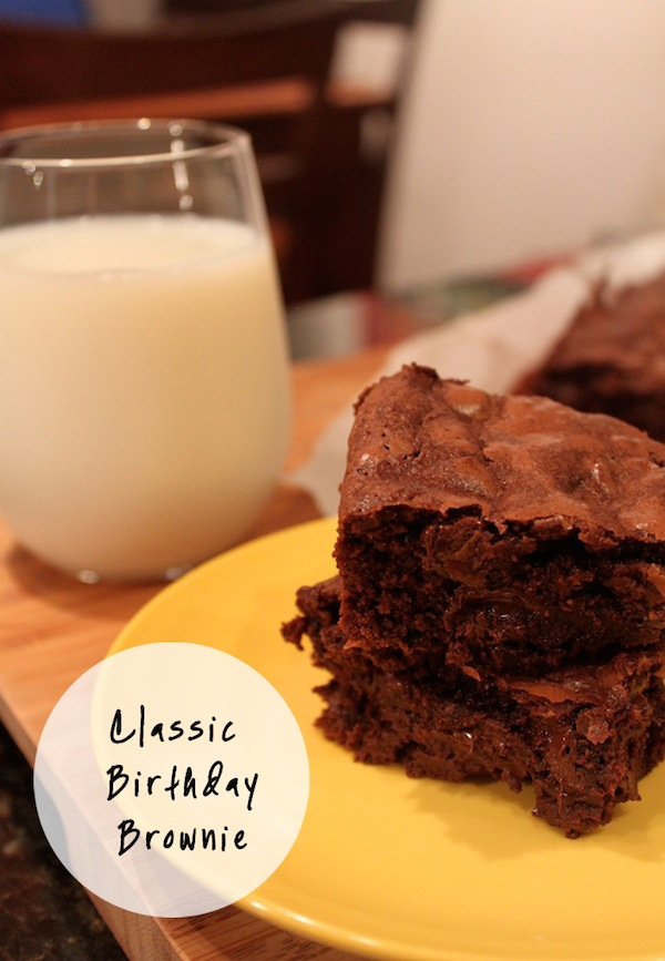Classic Birthday Brownies